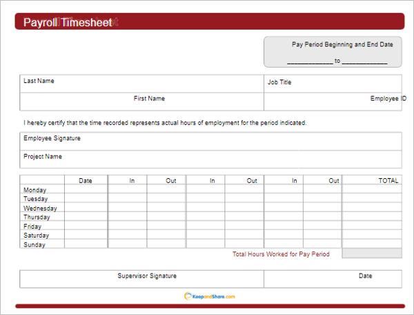Editable Payroll Calculator Template