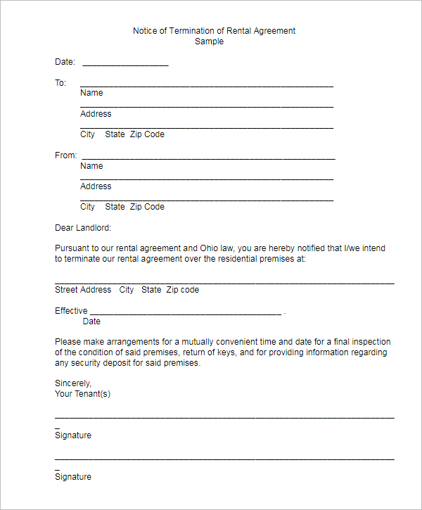 Editable Termination Letter Template