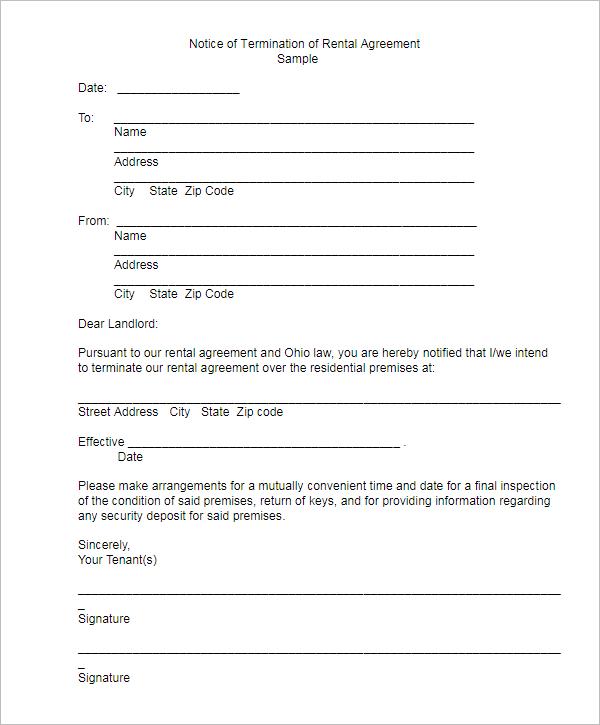 Editable Termination Letter Template