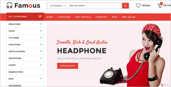 Electronics Store HTML5 Website Template