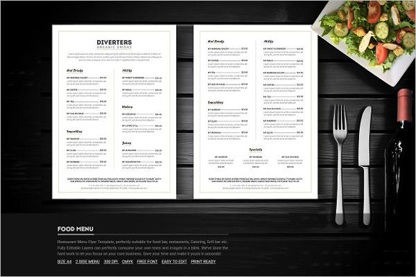 30 catering menu templates free design sample ideas. Black Bedroom Furniture Sets. Home Design Ideas