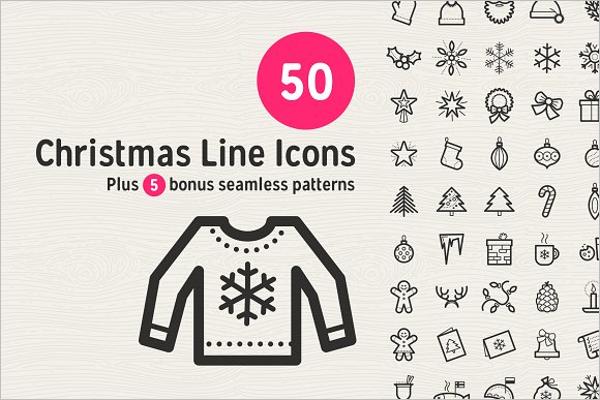 Elegant Christmas Line Icons