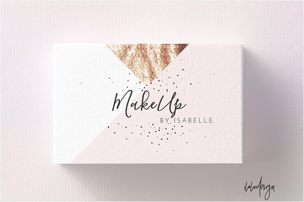 Elegant Makeup Business Card Template
