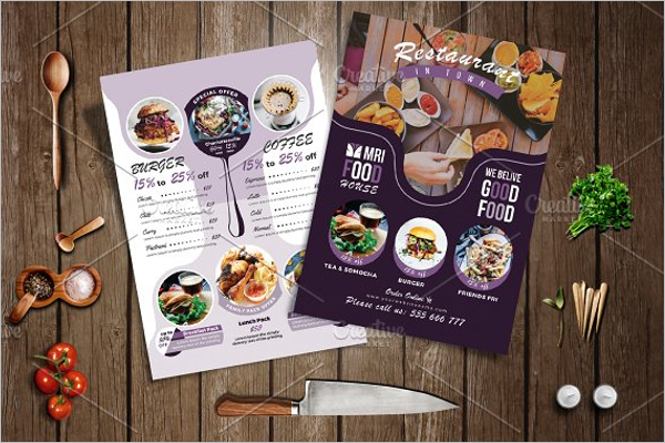 Elegant Take Out Menu Template