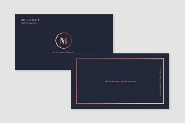 Elegant Visiting Card Design