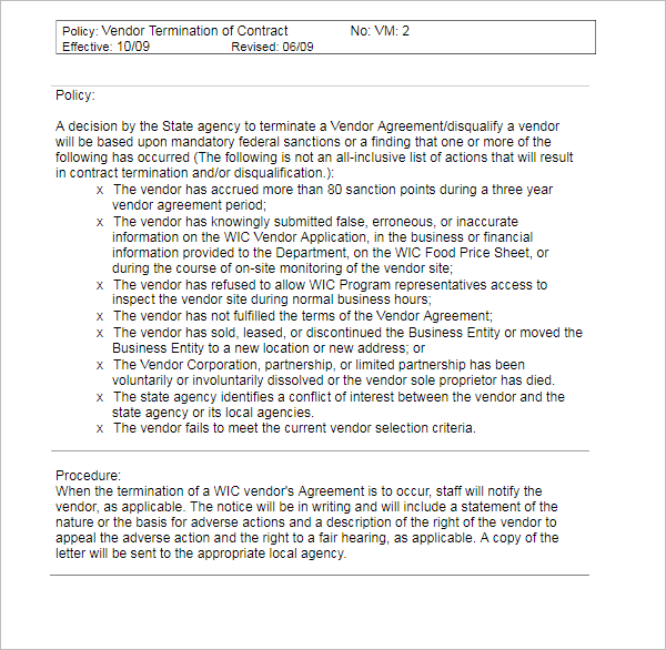 Employee Termination Letter Sample