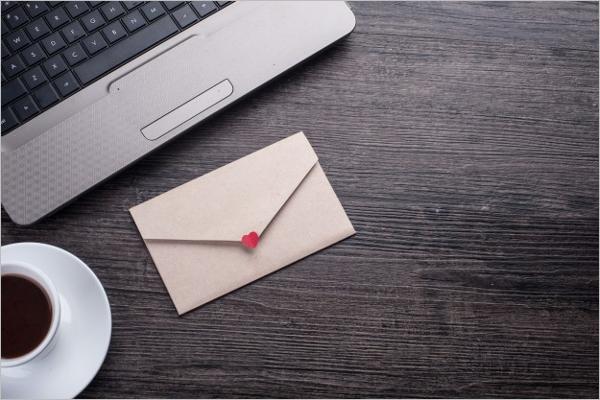 Empty Christmas Envelope Design