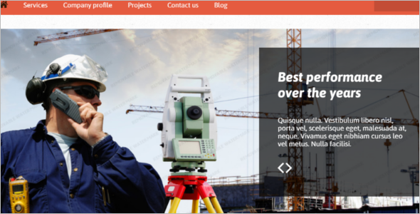 Engineering Company Website Template