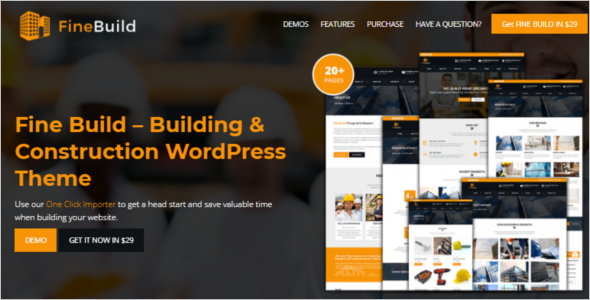 Engineering & Construction Website Template
