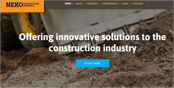 Engineering Drafting Website Template