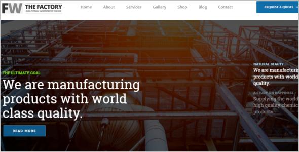 Engineering Website Example Template