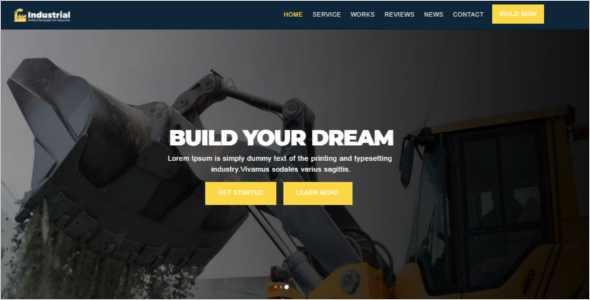 Engineering Services Website Template