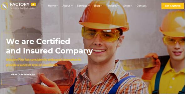 Engineering Website Design Template