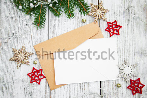 Envelope With Christmas Wooden Board