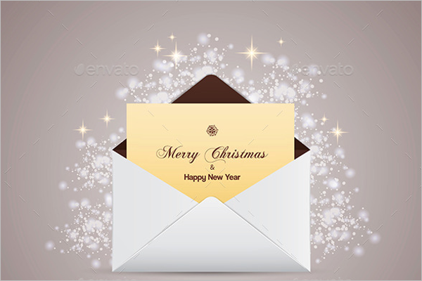 Envelope With Greeting Card Template