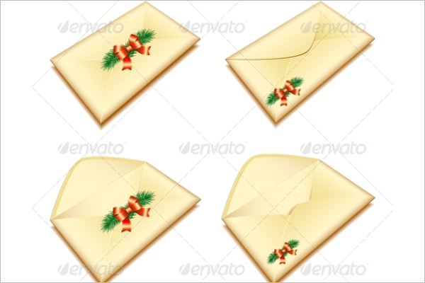 Envelope with Christmas Seal Template
