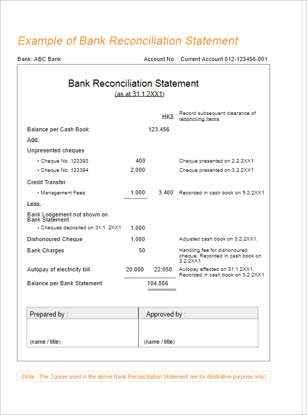 10 bank reconciliation statement templates free pdf ppt examples. Black Bedroom Furniture Sets. Home Design Ideas