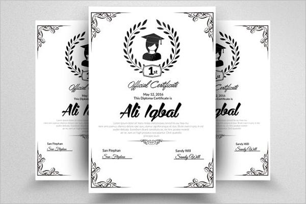 Experience Certificate Template PSD