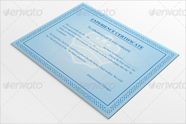 30 experience certificate templates free word pdf psd format experience certificate template download yelopaper Choice Image
