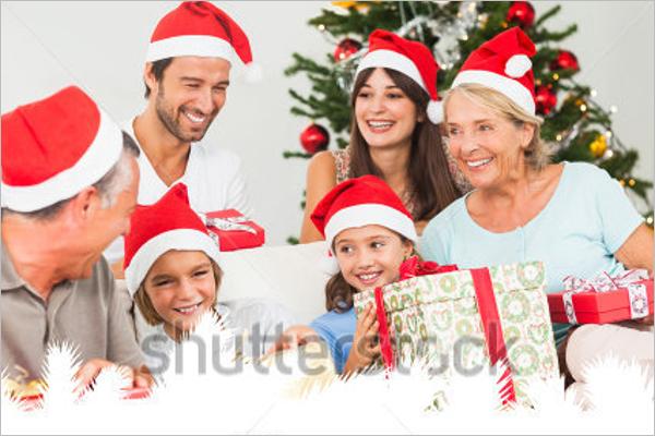 Family Christmas Photo Template