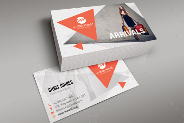 Fashion Artist Business Card Template