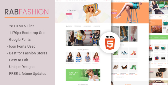Fashion Ecommerce HTML5 Template