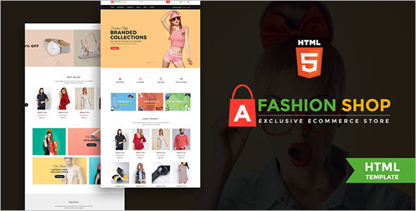 Fashion Shop Ecommerce Website Template