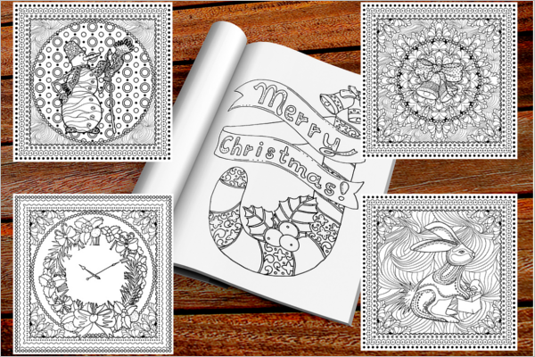 Fashioned Christmas Coloring Books