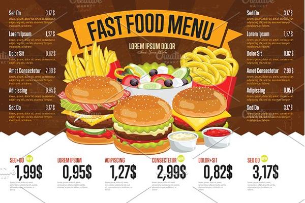Fast Food Price Menu Template