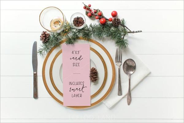 Festive menu Template