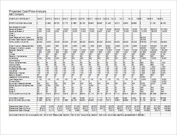 Financial Statements Template PDF