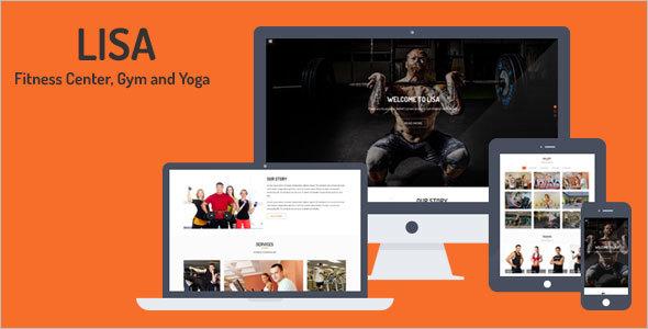 Fitness Center Website Template