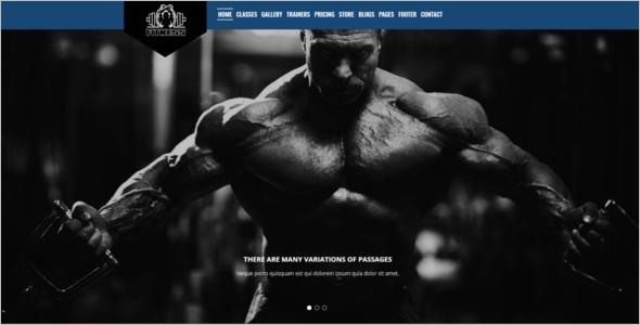 Fitness HTML5 Website Template