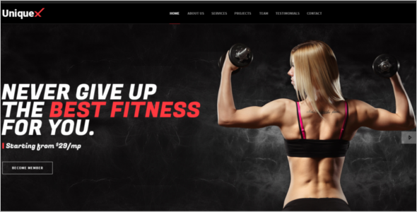 Fitness Landing Page Template