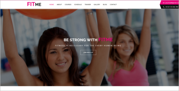Fitness One Page HTML Template