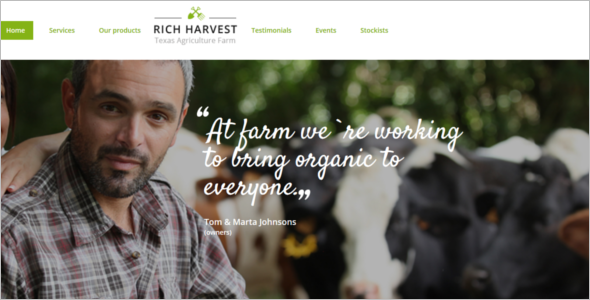 Flash Agriculture Website Template