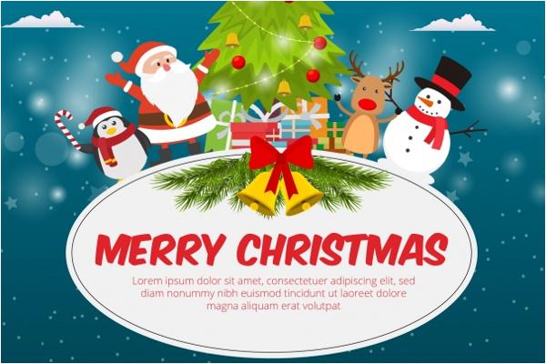 Flat Christmas Background Design