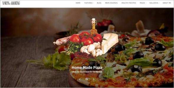 Food Blog Website Template