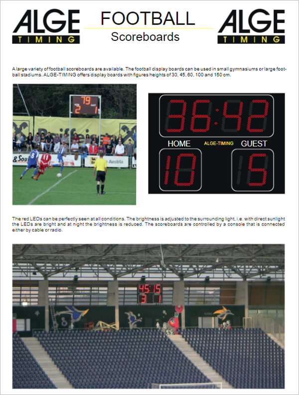 Football Scoreboard PowerPoint Template