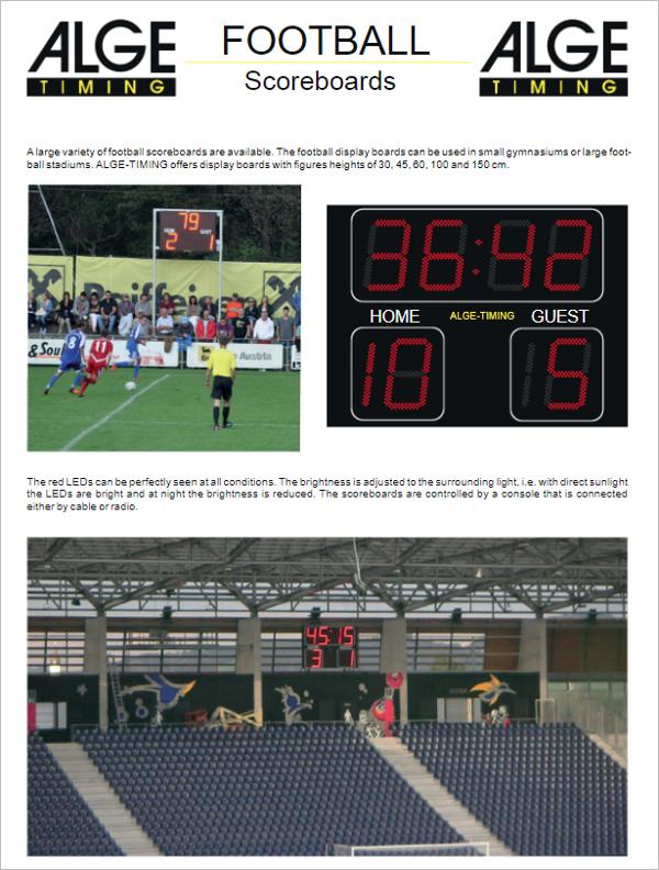 Football Scoreboard PowerPoint Template