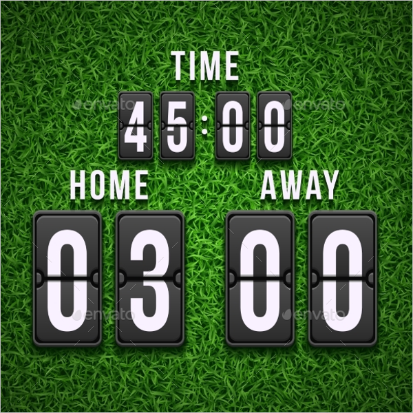 Football Soccer Scoreboard PSD Template