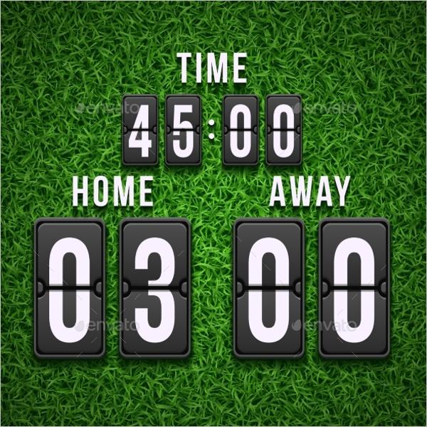 Football Soccer Scoreboard PSD Template