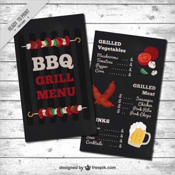 Free BBQ Menu Design