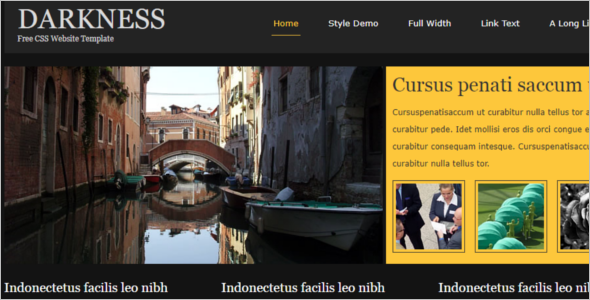 Free CSS Artist Website Template