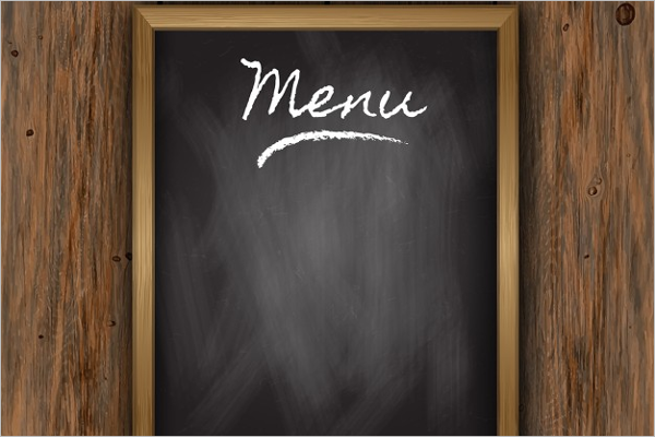plain menu templates