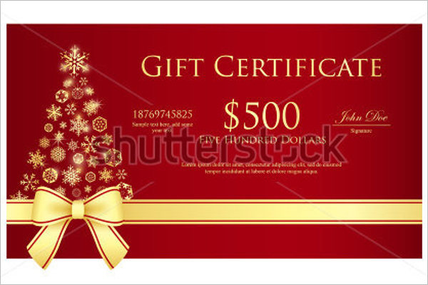 Free Christmas Certificate Design
