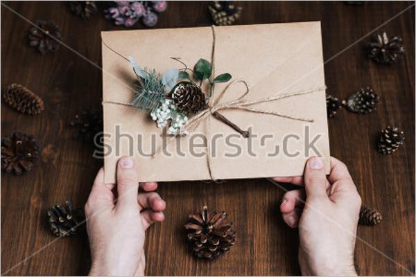Free Christmas Envelope Design