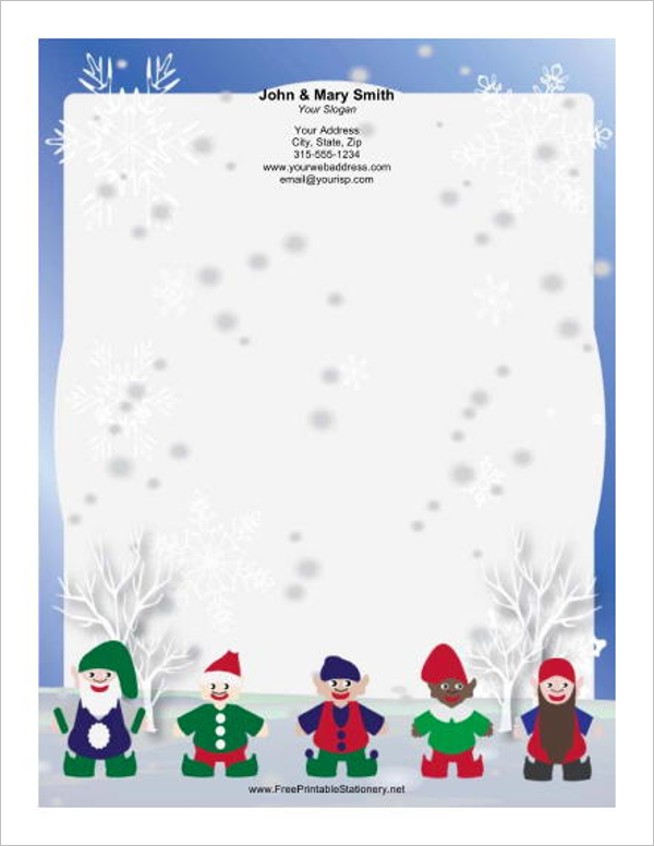 15 christmas letterhead templates free word designs for Free christmas stationery templates