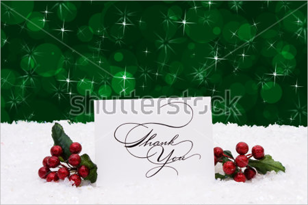 Free Christmas Thank You Note