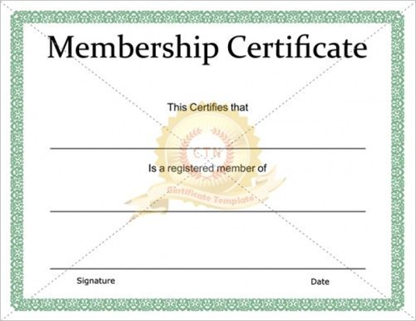 Free Church Membership Certificate Template